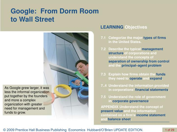 Google:  From Dorm Room to Wall Street