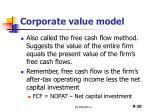 corporate value model