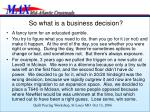 so what is a business decision