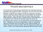 the point about planning is