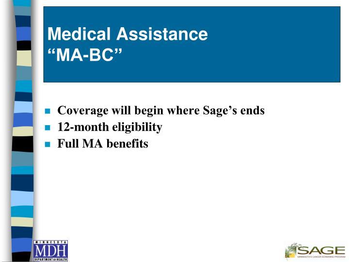Medical assistance ma bc