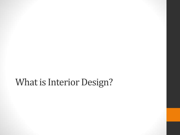 what is interior design n.