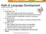 math language development mccallum whitlow 1994