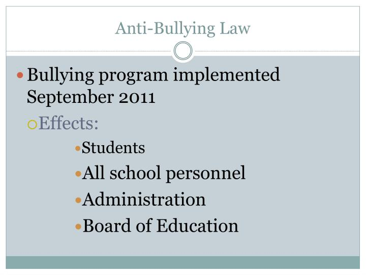 Anti-Bullying Law