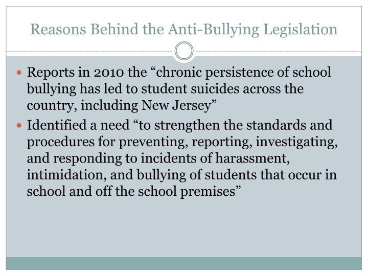 Reasons Behind the Anti-Bullying Legislation