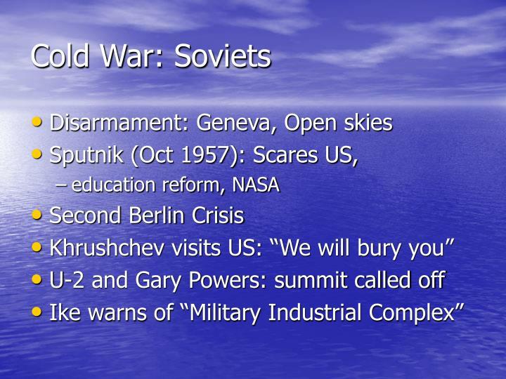 Cold War: Soviets