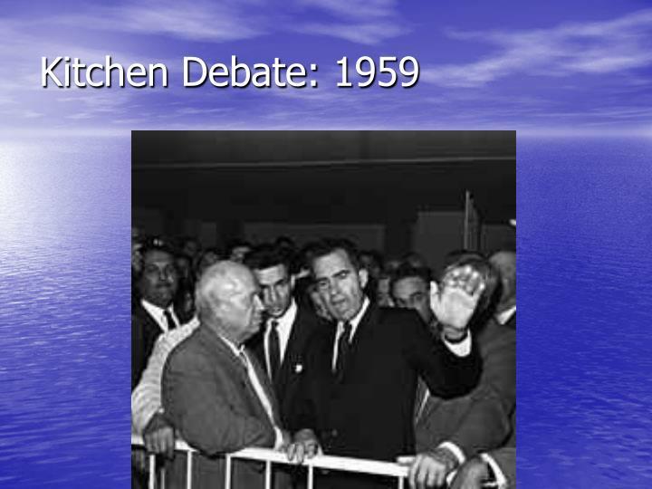 Kitchen Debate: 1959