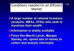 conditions needed for an efficient market