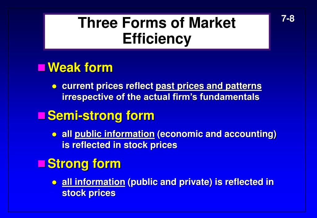 Three Forms of Market Efficiency