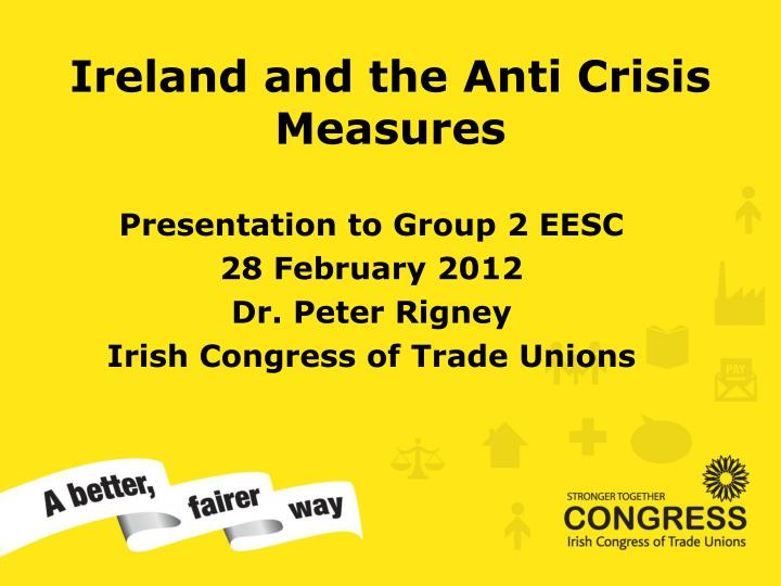ireland and the anti crisis measures n.