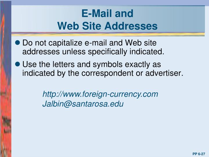 E-Mail and