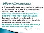 affluent communities