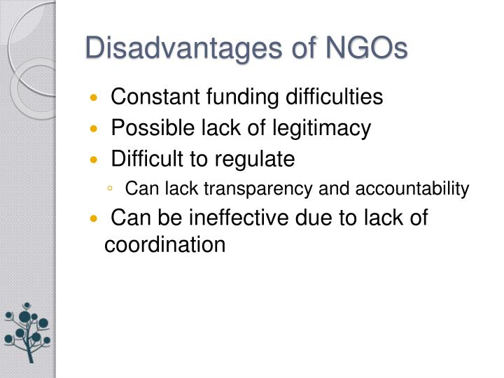Disadvantages of NGOs