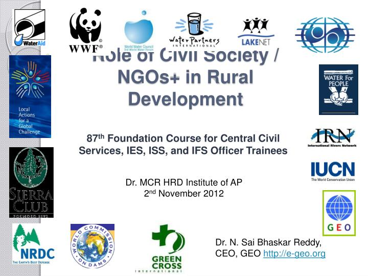 Role of civil society ngos in rural development