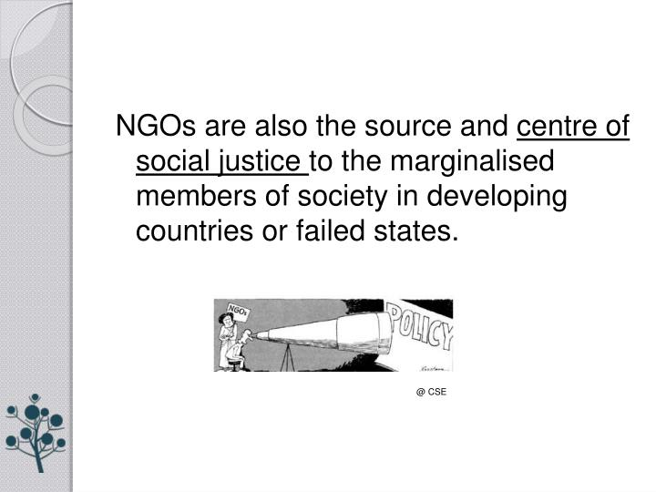 NGOs are also the source and