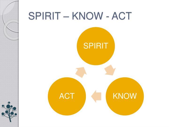 SPIRIT – KNOW - ACT