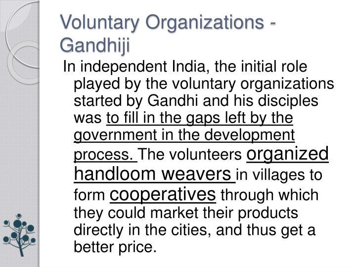 Voluntary Organizations -