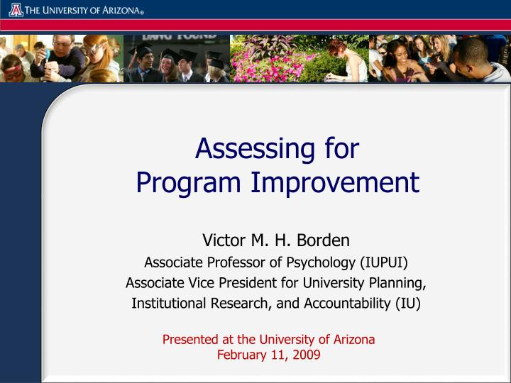 assessing for program improvement n.