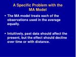 a specific problem with the ma model