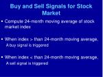 buy and sell signals for stock market