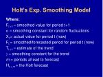 holt s exp smoothing model64