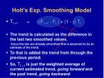 holt s exp smoothing model66