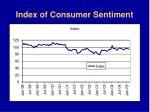index of consumer sentiment