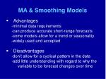 ma smoothing models