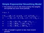 simple exponential smoothing model42