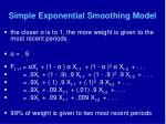 simple exponential smoothing model43