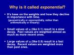 why is it called exponential