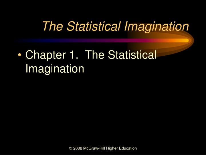 the statistical imagination n.