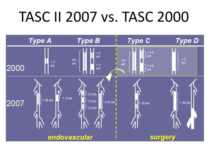 TASC II 2007 vs. TASC 2000