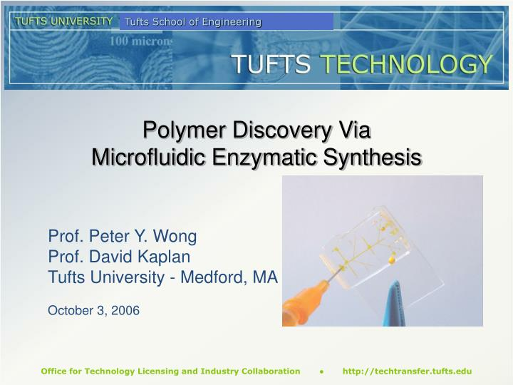 polymer discovery via microfluidic enzymatic synthesis n.