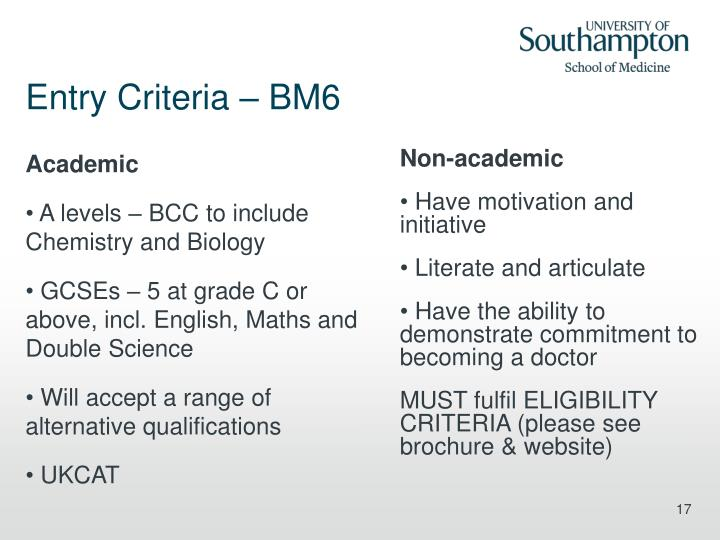 bm6 personal statement