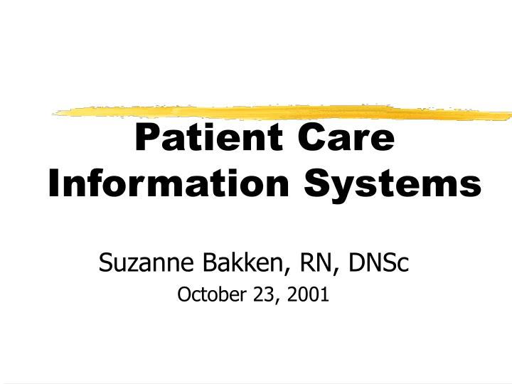patient care information systems n.