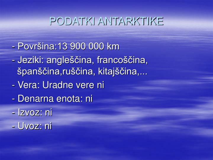 Podatki antarktike