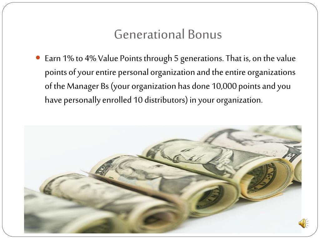 Generational Bonus
