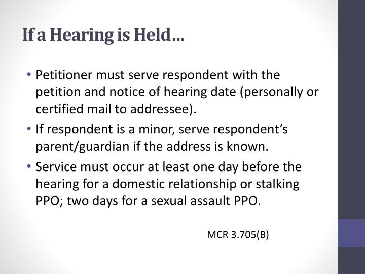 If a Hearing is Held…