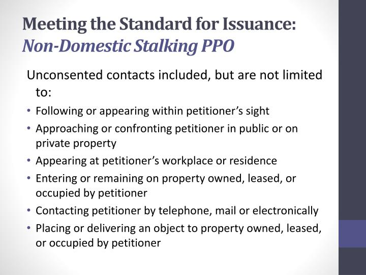 Meeting the Standard for Issuance: