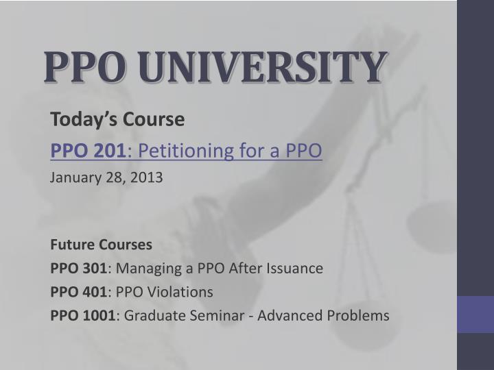 Ppo university
