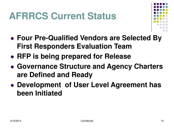 AFRRCS Current Status