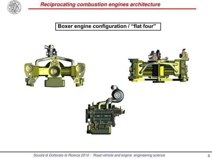 """Boxer engine configuration / """"flat four"""""""