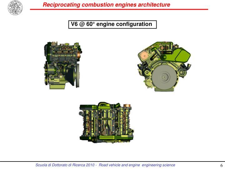 V6 @ 60° engine configuration