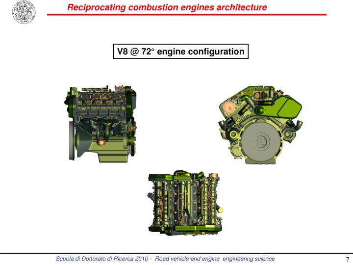 V8 @ 72° engine configuration