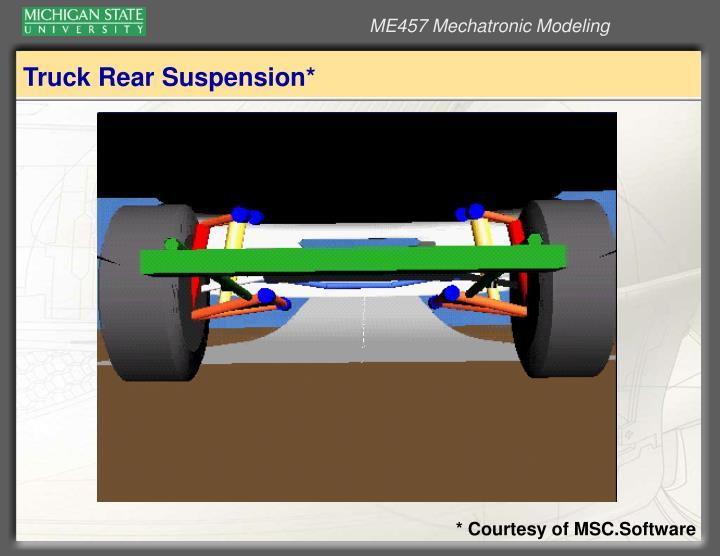 Truck Rear Suspension*