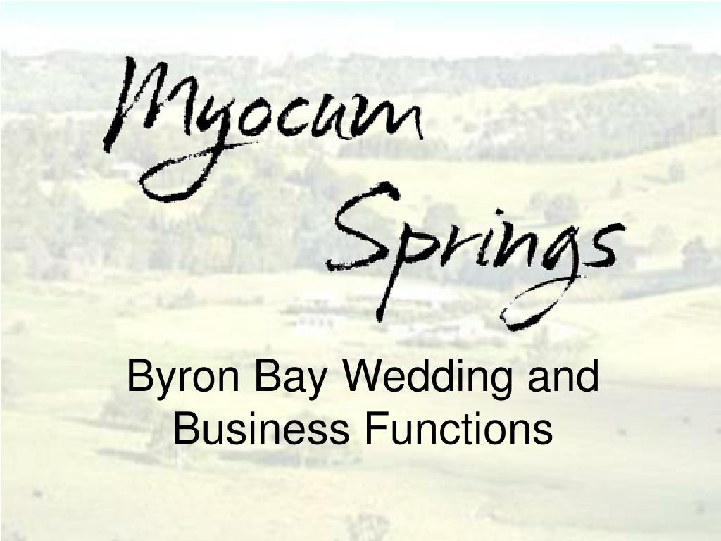 byron bay wedding and business functions