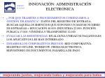 innovaci n administraci n electronica