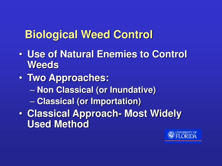 Biological Weed Control