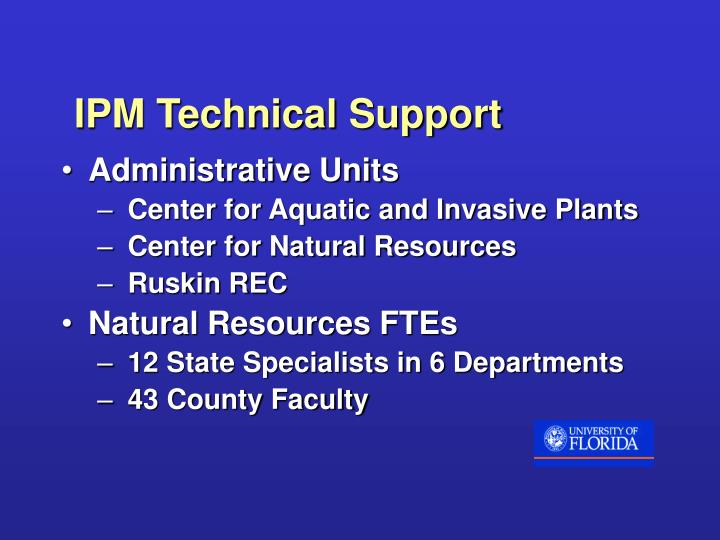 IPM Technical Support